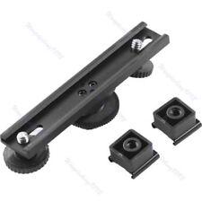 Hot Shoe Extension Dual Bracket Bar Mount For DV Camera Video LED Light SLR Rig