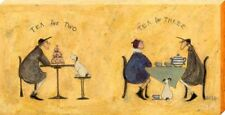 Sam Toft Tea for Two Tea for Three Large Canvas Print 50 x 100cm