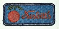 Vintage Nesbitt's Orange Soda Blue Advertising Cloth Patch New NOS 1970's