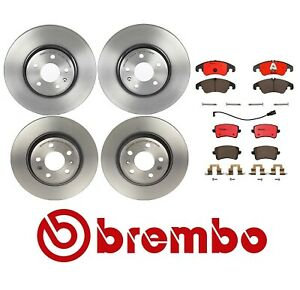 Brembo Front Rear Full Brake Kit Disc Rotors Ceramic Pads For Audi A4 A5 allroad