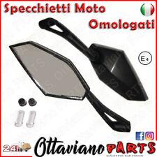 Coppia Specchi Specchietti Moto Omologati Universali Metallo ABS Specchio M47