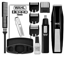 Wahl Mustache And Beard Trimmer Set Hair Cut Clipper Kit Ear Nose Groomer Shaver