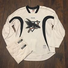 Worcester Sharks Pro Stock AHL Hockey Reebok White Practice Package Sz 56/XL