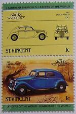 1937 LANCIA APRILIA Car Stamps (Leaders of the World / Auto 100)