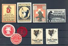 GERMANY etc. 9 x POSTER STAMP /COVER SEALS = BEAR = */(*) --F/VF--