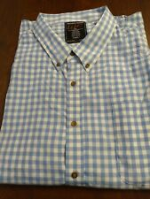Men's Walnut Creek Button Down Collared Shirt Check Blue White  Size 3XL