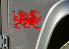 Welsh Dragon Sticker Wales Cymru Vinyl Car laptop Wall Art Decals Graphic Small