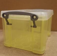 Really Useful Blue 1.6 Litre Yellow Storage Box