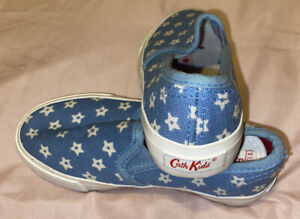 Girls Infant Size 8 - Cath Kidston Slip On Pumps / Trainers - Excellent Cond