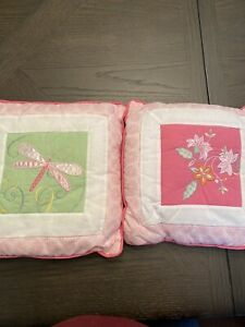 2 Pillows Kids Line Dragonfly And Flowers