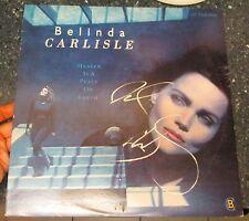 "Belinda Carlisle signed Heaven is a Place on Earth 12"" lp"