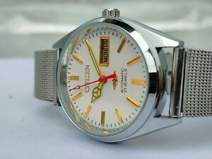 Citizen Automatic Movement No.8200 Day& Date Men's Wrist Watch Japan Made