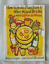 Mid-Century WINE ADVISORY BOARD Mixed Drinks Recipe Booklet For California Wines