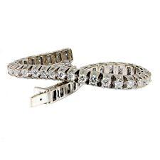 """Men's Round Diamond Bracelet Vs Clarity 14k White Gold 8""""long"""