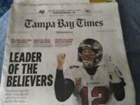Tampa Bay Times Newspaper Super Bowl 55 Edition. Sarah Tomas Referee Poster.