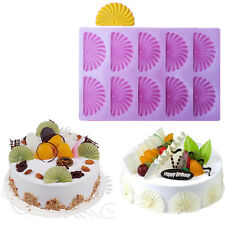 Fan Sector Fondant Cake Decorating Mold Chocolcate Stencil Baking mold