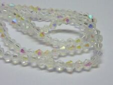 140 pce Clear AB Faceted Bicone Crystal Glass Beads 3mm Jewellery Making Craft