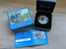 Perth Mint Australian KOALA 1 oz silver coin GILDED with 24 KT Gold  2013