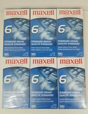 New listing Lot of 6 Maxell Vhs Video Cassette 6 Hr Standard Grade T-120 Blank Sealed Tapes