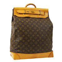 LOUIS VUITTON STEAMER 35 TRAVEL HAND BAG PURSE MONOGRAM M41128 A52474