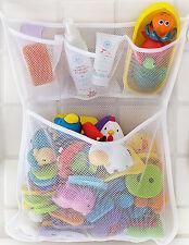Baby Bath Toys Bin Organizer Bathtub Mesh Bag with 3 Extra Pockets