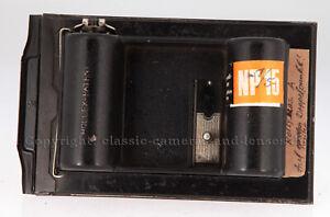 Rollfilmadapter Rollex-Patent für 9x12 Plattenkamera, Lochkamerabau! #KI