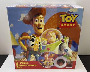 Disney Toy Story Dinnerware Set 3-Piece Zak Designs/Hasbro 1995 NEW TS-110