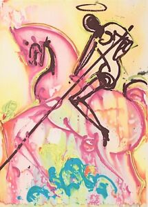 Salvador Dali - St. Georges (signed lithograph, 1983)