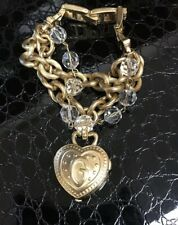 guess gold Locket Heart watch Bracelet women Cute New
