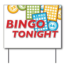 """Bingo Tonight Curbside Sign, 24""""w x 18""""h, Full Color Double Sided"""