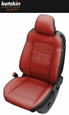 2015-20 Ford Mustang Coupe Custom Katzkin Black and Red Leather Seat Covers