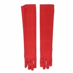 US Women Satin Evening Gloves 21.26'' Long Party Dance Elbow Length Opera Gloves