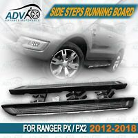 for Ford Ranger PX Wildtrak Black Running Boards Side Steps 2012-2018 Dual Cab