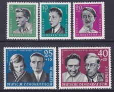 Germany DDR B79-83 MNH 1961 Portraits - Memorials at Buchenwald & Ravensbrük