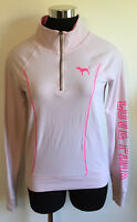 PINK Victoria's Secret Yoga 1/2 Zip Pullover Long Sleeve Shirt Women's Size XS
