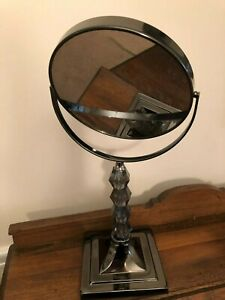 Aquatico Decorative Mirror Tabletop Standing Magnifiying Metal Plastic