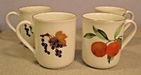 Royal Worcester EVESHAM GOLD MUG ENGLAND Bone China Fruit pattern