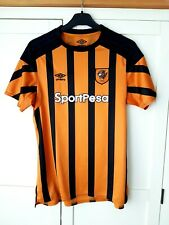 Hull City Home Shirt 2017. Ladies Size 14. Official Umbro. Orange Football Top.