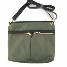 A New Day Cross Body Messenger Hand Bag Large Olive Green Adjustable Strap