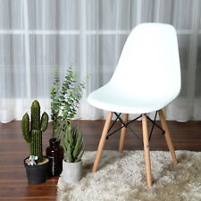 4PCS White Style Chairs Office Dining Chair Eames Lounge Chairs Side Chairs