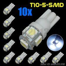 10 x T10 COOL WHITE 5 SMD 5050 LED Car Lamp Side Light Bulb 194,168,2825,W5W