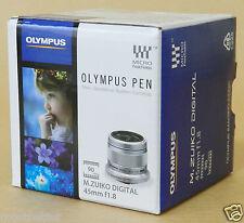 OLYMPUS M.ZUIKO DIGITAL 45mm F1.8 LENS Silver New Free Shipping from Japan