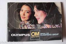 Olympus OM System Flash Photo Group Manual Instruction Book - English - USED B40