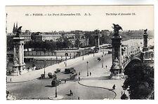 Bridge of Alexander III - Paris Photo Postcard c1910