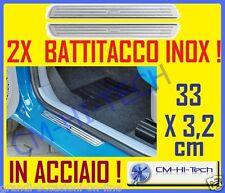 2 BATTITACCO UNIVERSALE IN ACCIAIO TUNING PROTEGGI PORTIERE SOTTO PORTA PER AUTO