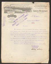 "GLAGEON (59) FILATURE / LAINE Peignée ""L. HUBINET"" 1924"