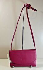 NWT FOSSIL SOPHIA RASPBERRY WINE LEATHER CROSSBODY MESSENGER PURSE SLG1036672