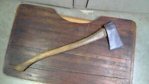 Vintage Unmarked 28 Inch Single Bit Boys Axe with Original Handle