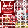 "18"" Christmas Xmas Cushion Cover Pillow Case Peach skin Home Sofa Throw Decor"