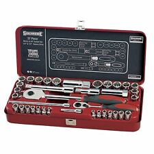 Sidchrome 37 PIECES IMPERIAL/METRIC SOCKET SET 1/4 & 1/2 Inch Drive *Aust Brand